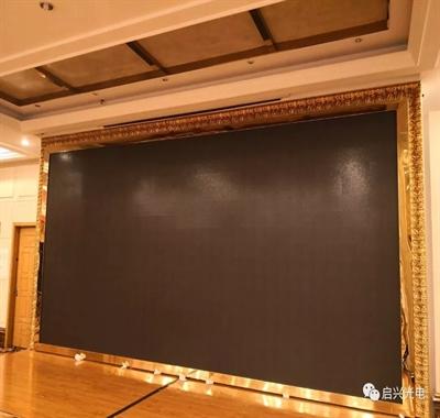 武汉启兴光电承制---武汉XX酒店●室内Q4全彩交付使用!