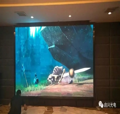 武汉启兴光电承制--纽宾凯徐东国际酒店●室内P4全彩显示屏