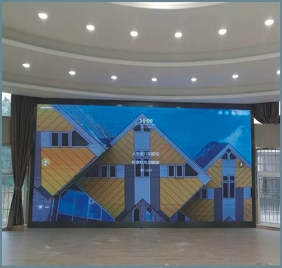 武汉启兴光电承制--室内全彩P2.5、户外全彩P3交付使用!