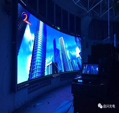 武汉启兴光电承制---全彩显示屏八套交付使用!